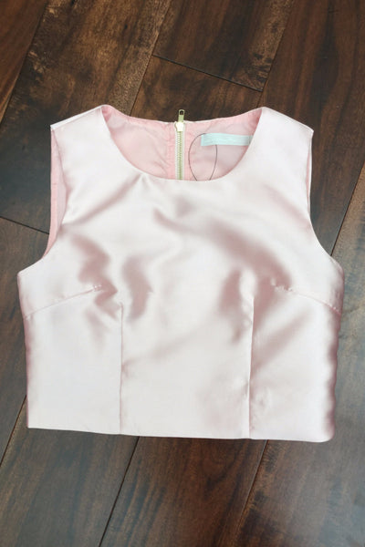 Lucy Baby Pink (rose) Crop Top - LadyVB   s.r.o
