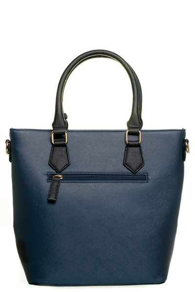 Jenna Two Tone Navy and Black Tall Handbag - LadyVB   s.r.o - 2