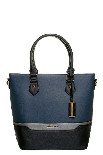 Jenna Two Tone Navy and Black Tall Handbag - LadyVB   s.r.o - 1