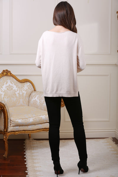 Cream Star Knit Jumper - LadyVB   s.r.o - 2