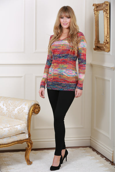 Multi Coloured Knit Jumper - LadyVB   s.r.o - 1