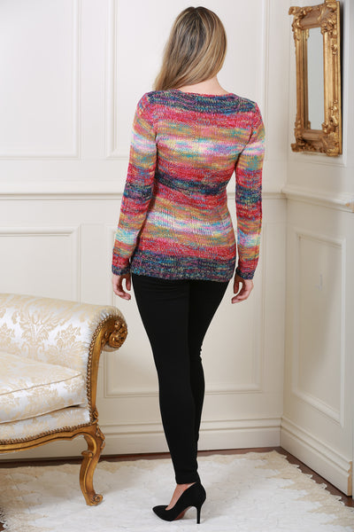 Multi Coloured Knit Jumper - LadyVB   s.r.o - 2