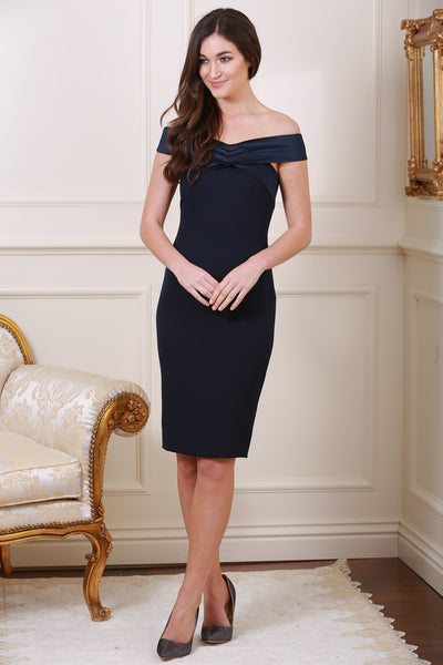 Laurette Navy Midi Dress - LadyVB   s.r.o - 2