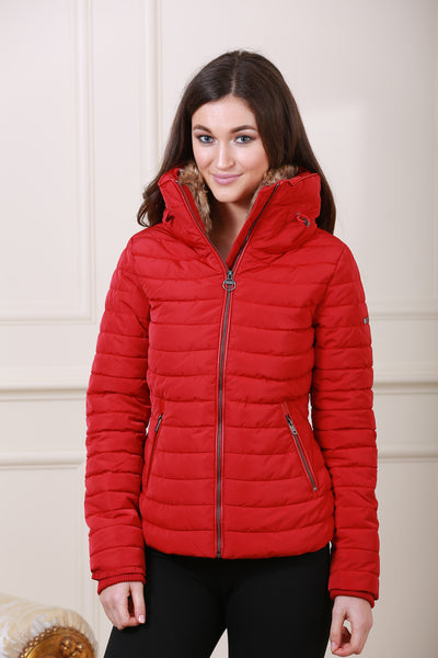 Red Puff Diesel Jacket - LadyVB   s.r.o - 3