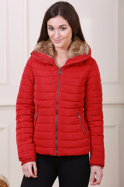 Red Puff Diesel Jacket - LadyVB   s.r.o - 1