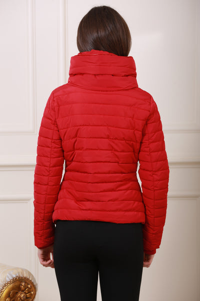Red Puff Diesel Jacket - LadyVB   s.r.o - 2