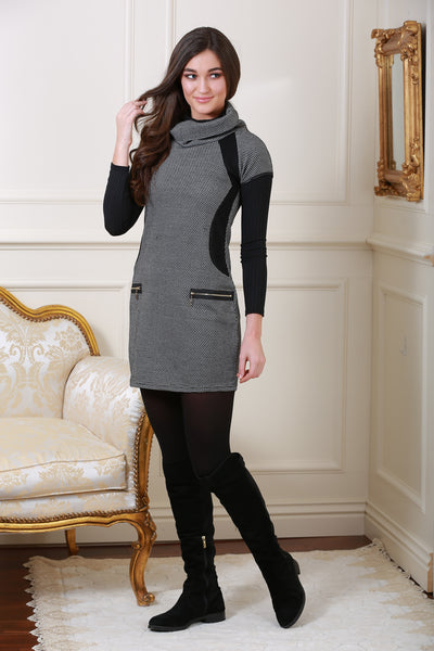 Edessa Grey Roll Neck Tunic - LadyVB   s.r.o - 1