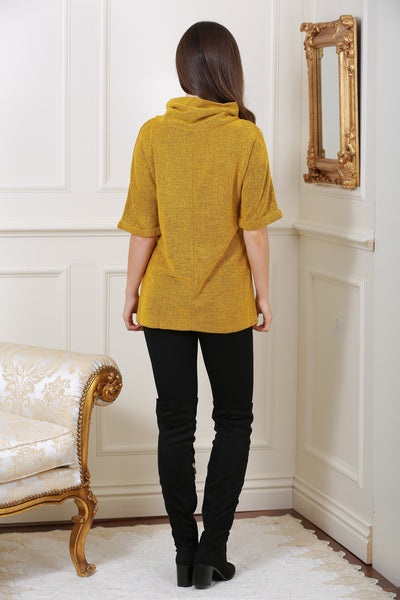 Nell Mustard Cosy Knit Jumper top - LadyVB   s.r.o - 2