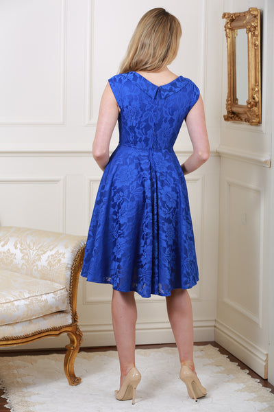 Marissa Royal Blue Lace Midi Dress - LadyVB   s.r.o - 2