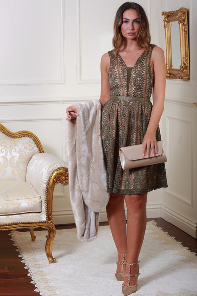 Celina Green Lace Dress - LadyVB   s.r.o - 2