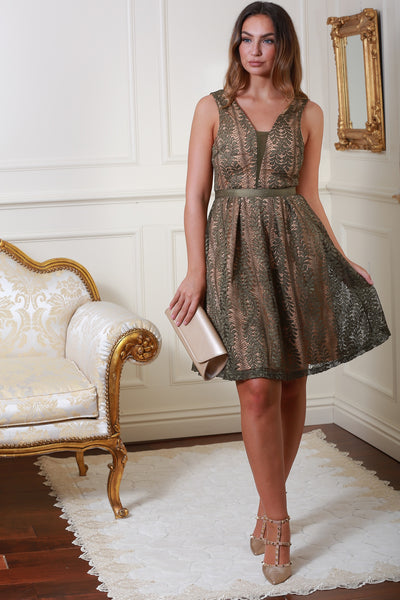 Celina Green Lace Dress - LadyVB   s.r.o - 3