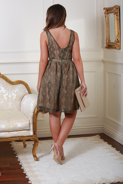 Celina Green Lace Dress - LadyVB   s.r.o - 4