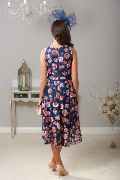 Niamh Rose Print Dress - LadyVB   s.r.o - 2