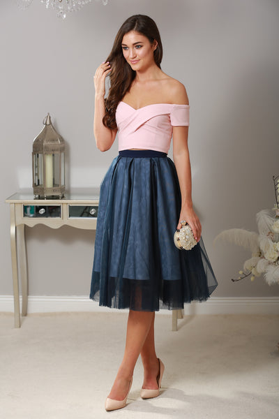 Ellie Navy Skirt - LadyVB   s.r.o - 1