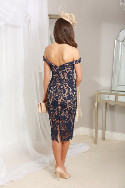 Zoe Navy Lace Dress - LadyVB   s.r.o - 3
