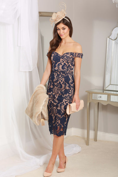 Zoe Navy Lace Dress - LadyVB   s.r.o - 1