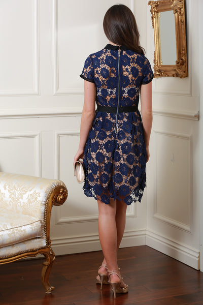 Zara Navy Lace Dress - LadyVB   s.r.o - 2