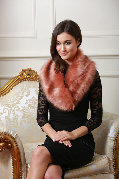 Noelle Pink Fur stole - LadyVB   s.r.o - 2