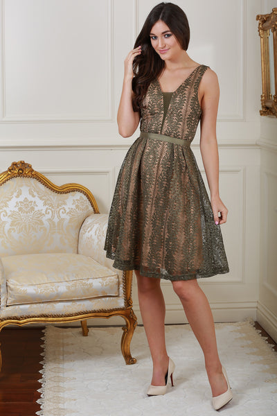 Celina Green Lace Dress - LadyVB   s.r.o - 1