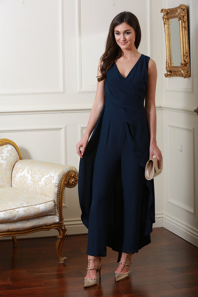 Philippe Navy Jumpsuit - LadyVB   s.r.o - 1