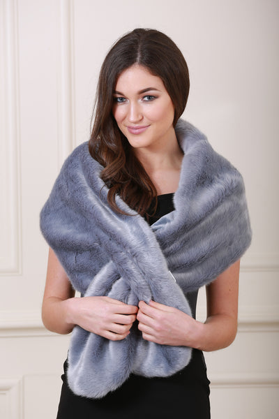 Holly Grey Fur Stole - LadyVB   s.r.o