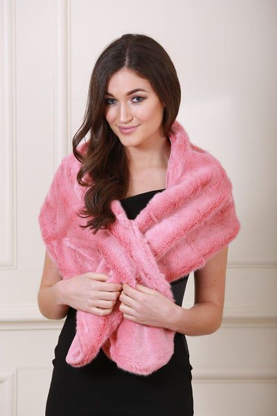 Holly Pink Fur Stole - LadyVB   s.r.o - 1