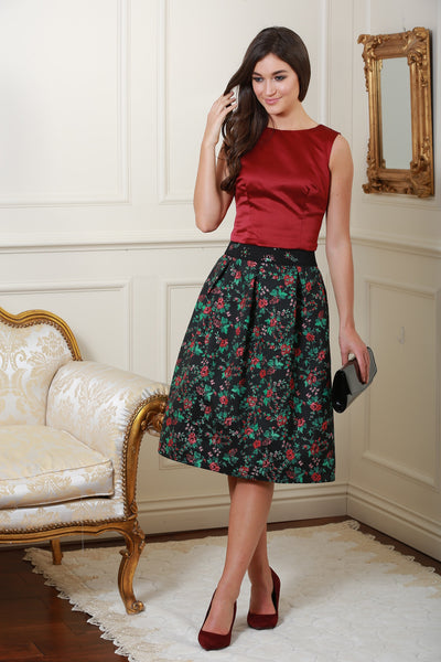 Lucy Green and Berry embellished skirt - LadyVB   s.r.o - 1