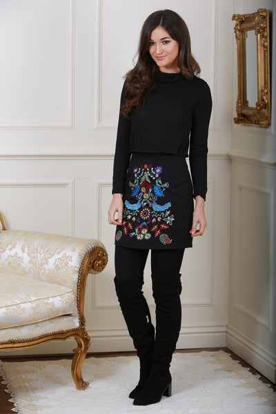 Embroidered Skirt - LadyVB   s.r.o - 1