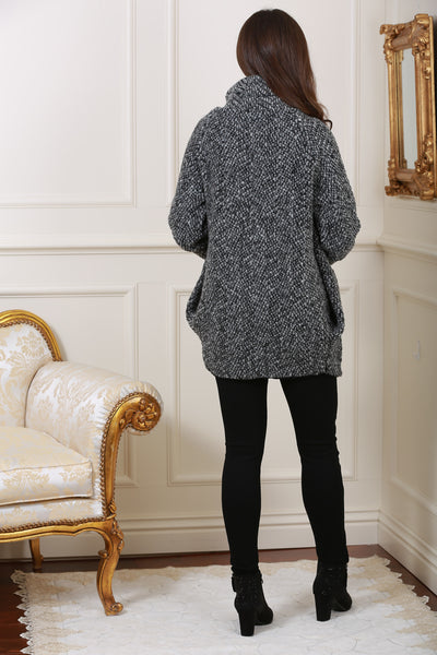 Anita Black Wool Cardigan with Fitted Cuff - LadyVB   s.r.o - 2
