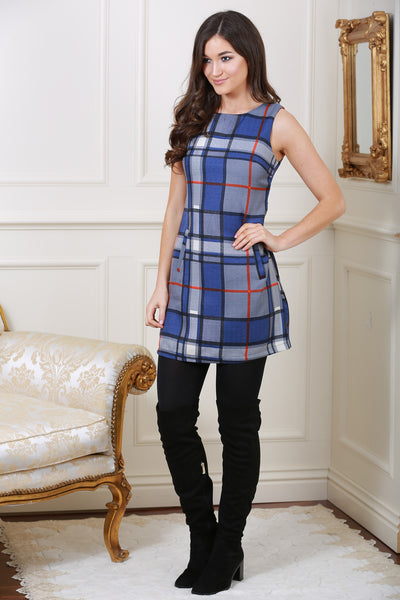Becky Checked Sleeveless Pinafore Dress - LadyVB   s.r.o - 2