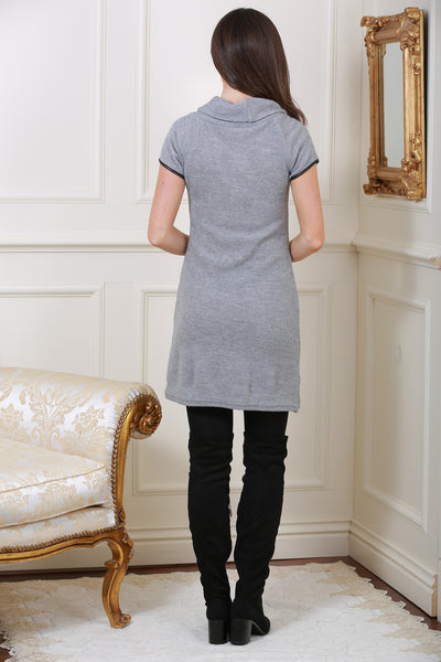 Nellie Grey Roll Neck Tunic Dress - LadyVB   s.r.o - 4