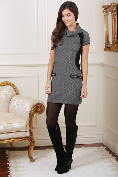 Edessa Grey Roll Neck Tunic - LadyVB   s.r.o - 2