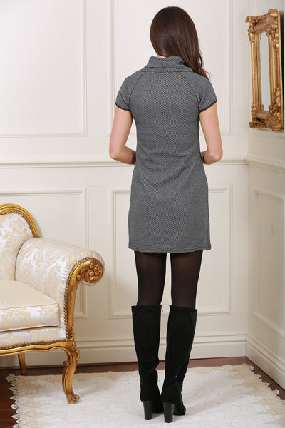Edessa Grey Roll Neck Tunic - LadyVB   s.r.o - 3