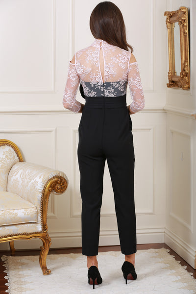 Evelyn Rose Lace & Black Jumpsuit - LadyVB   s.r.o - 2