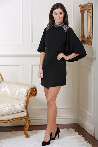 Mirabelle Black Detail Dress - LadyVB   s.r.o - 1