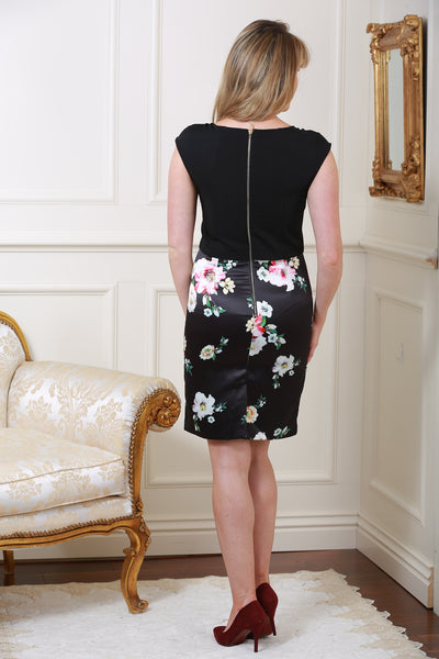 Nicola Black & Floral Two-In-One Contrast Dress - LadyVB   s.r.o - 4