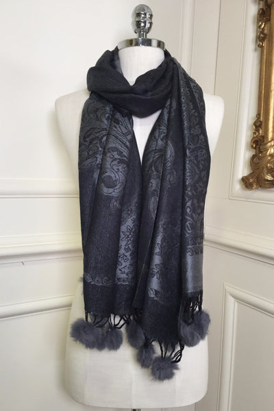 Darla Grey Two Tone Wrap Scarf - LadyVB   s.r.o - 1