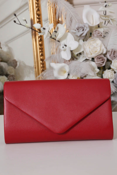 Red Envelope Matte Clutch Bag - LadyVB   s.r.o - 1