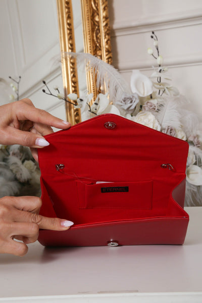 Red Envelope Matte Clutch Bag - LadyVB   s.r.o - 3