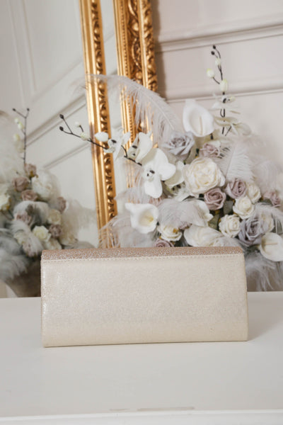Two Toned Beige Glitter Clutch Bag - LadyVB   s.r.o - 2