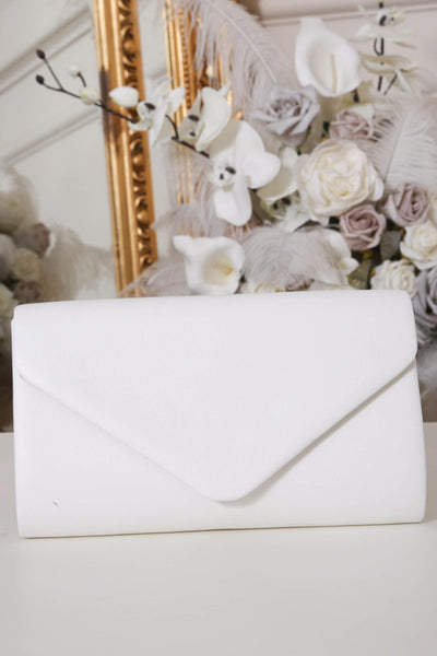 White Envelope Matte Clutch Bag - LadyVB   s.r.o - 2