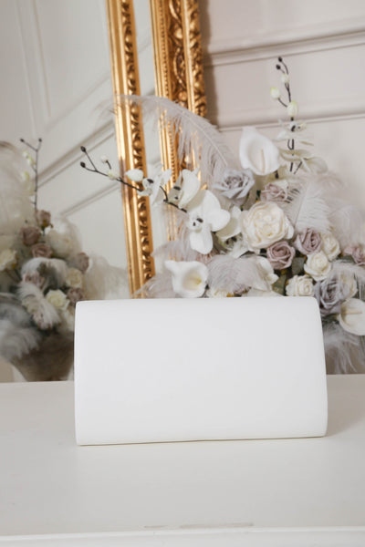 White Envelope Matte Clutch Bag - LadyVB   s.r.o - 4