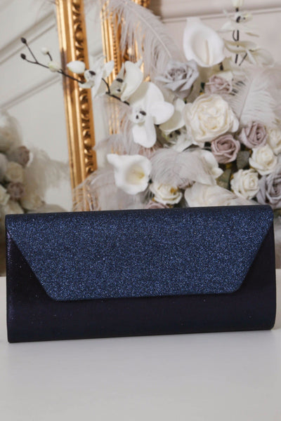 Two Tone Midnight Blue Glitter Clutch Bag - LadyVB   s.r.o - 1