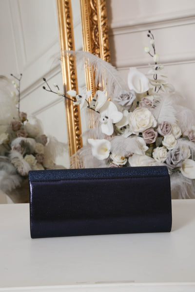 Two Tone Midnight Blue Glitter Clutch Bag - LadyVB   s.r.o - 2