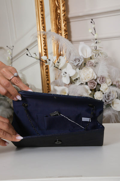 Two Tone Midnight Blue Glitter Clutch Bag - LadyVB   s.r.o - 3