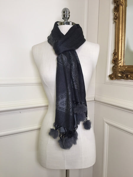Darla Grey Two Tone Wrap Scarf - LadyVB   s.r.o - 2