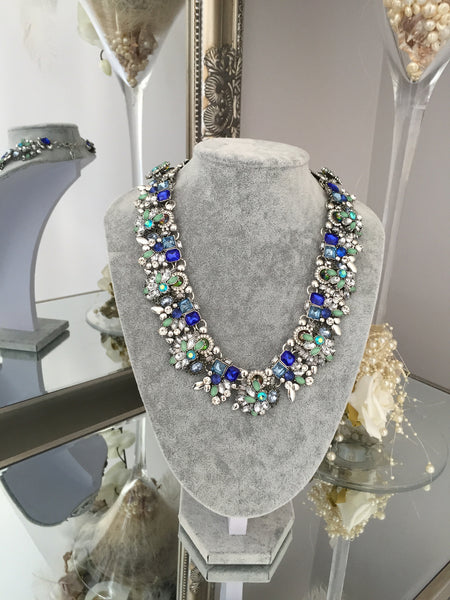 Ashleigh Blue and Teal Jewel Necklace - LadyVB   s.r.o - 1