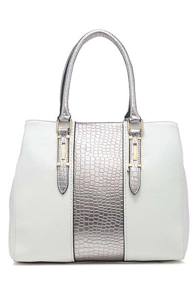 White and Silver Handbag - LadyVB   s.r.o