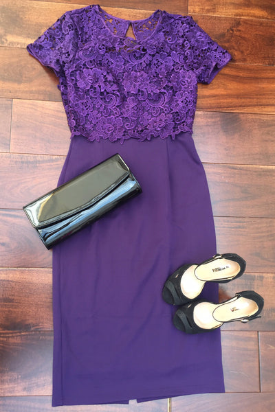 Purple Lace dress - LadyVB   s.r.o