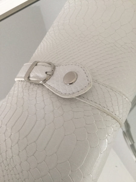 White Clutch Bag With Buckle - LadyVB   s.r.o - 3